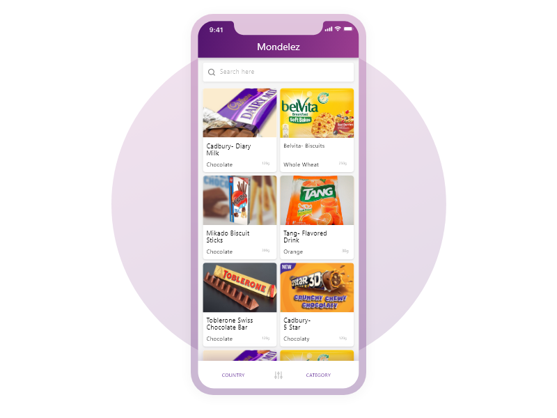 Mondelez Retail field force app