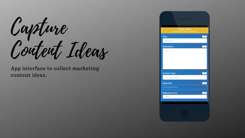 Content Ideas - Marketing Calendar app