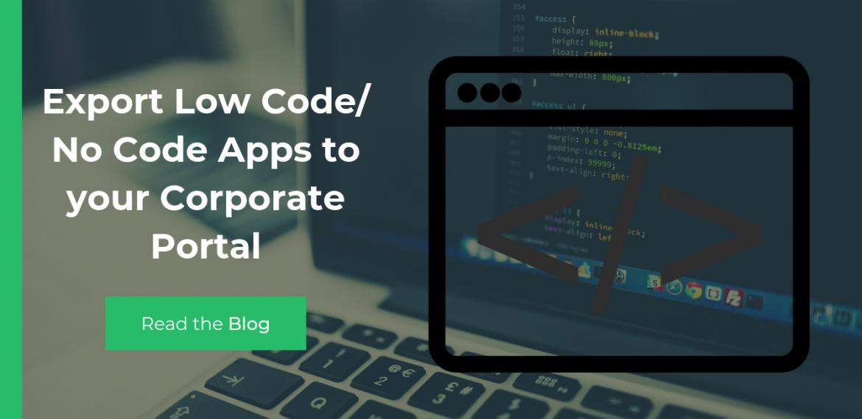 Export Low Code Apps to Portal