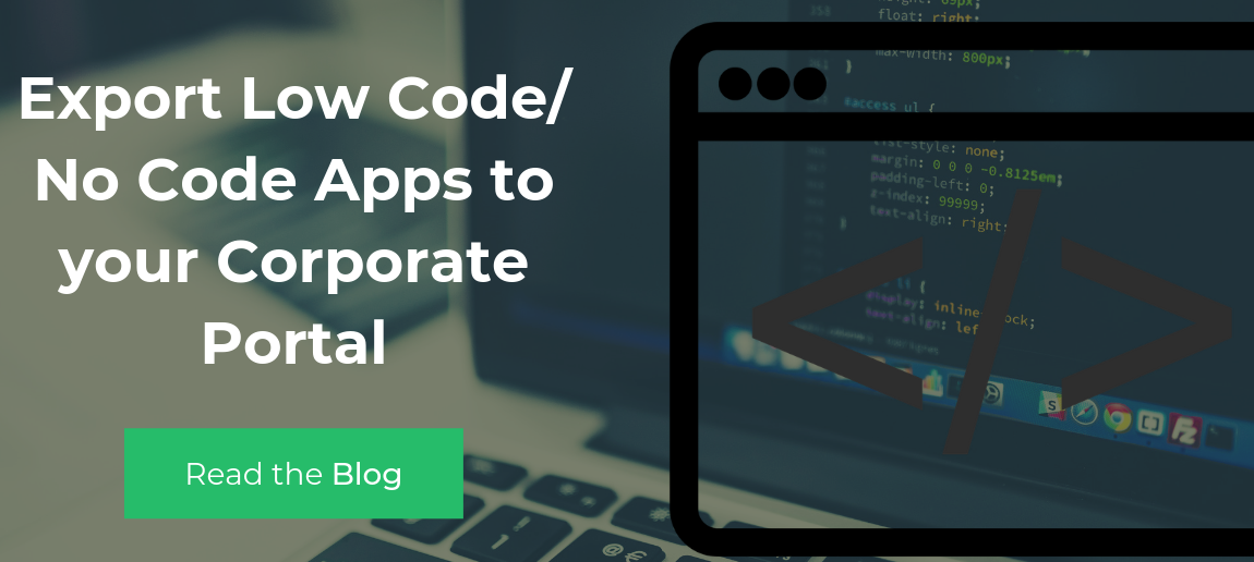 Export Low Code Apps to Portal