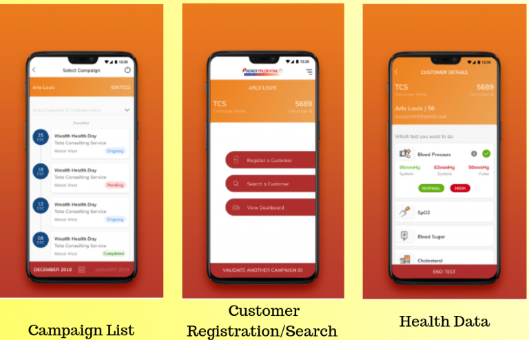 ICICI Pru iHealth App for Campaign Management
