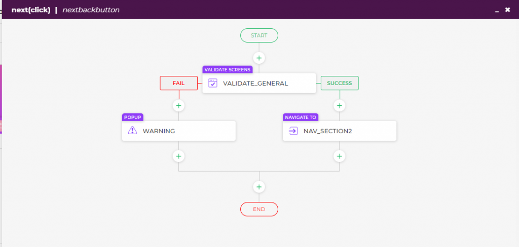 Using actionflows for form validation and navigation