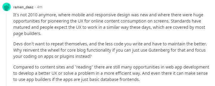 reddit user comment on drag drop tools