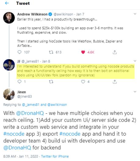 no code platform capabilities