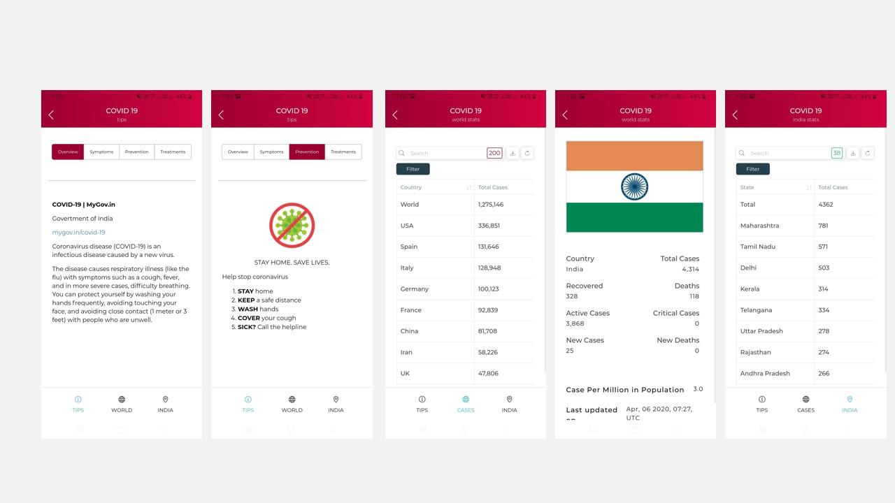 covid-19 news app