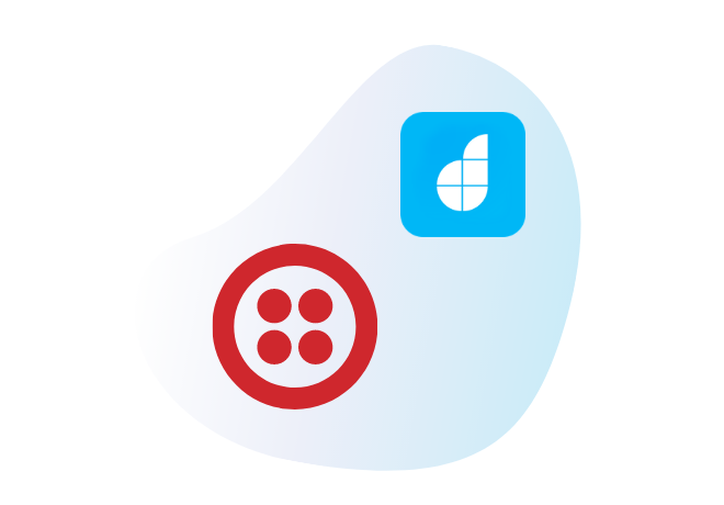 Integrate Twilio with your<br /> low-code apps