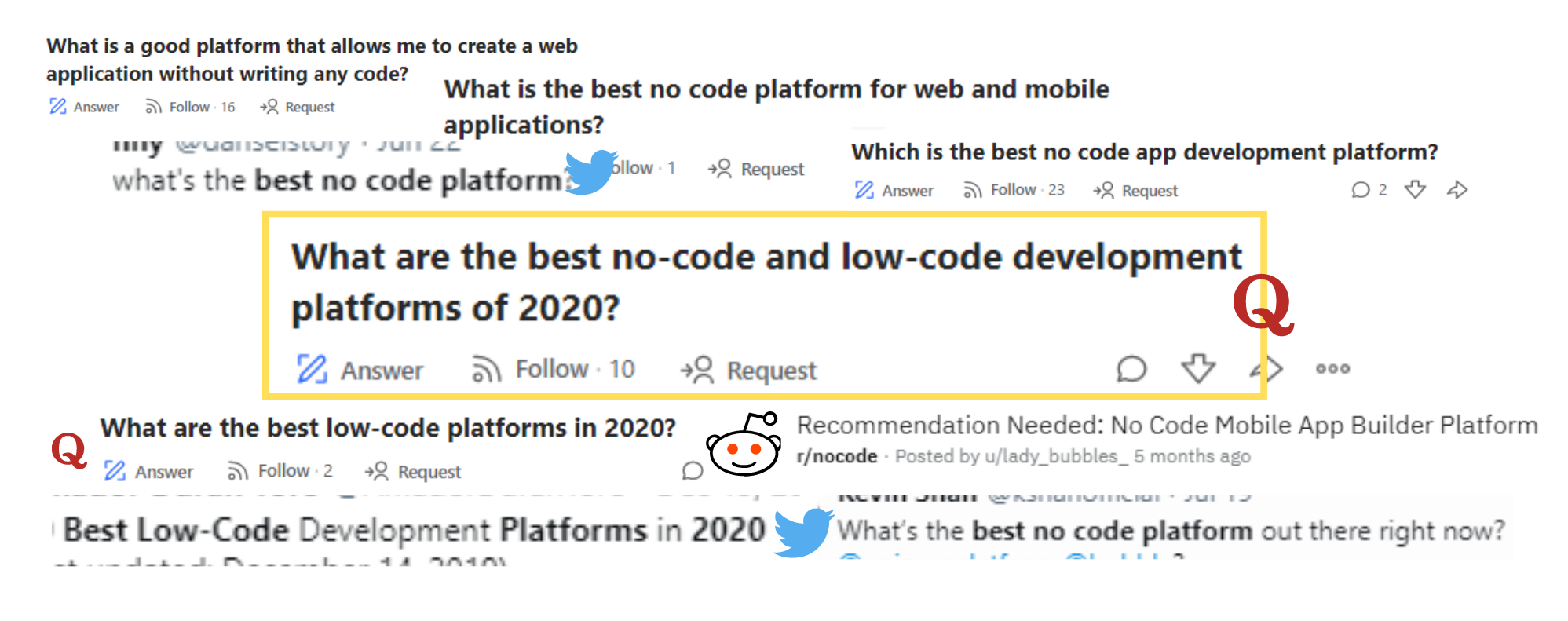 Best No-code platform of 2020