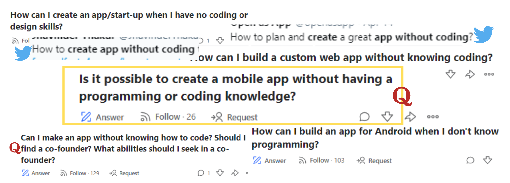 create app without coding