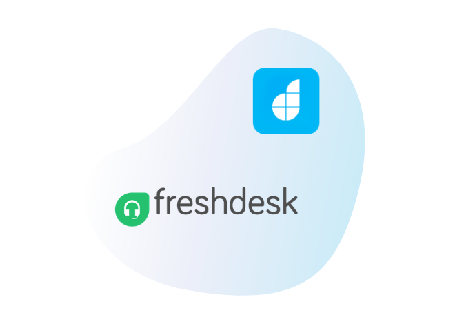 Connect Freshdesk with your<br /> low code apps
