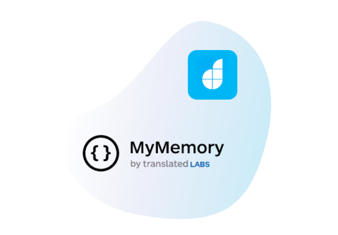 Connect MyMemory with your<br /> low-code apps