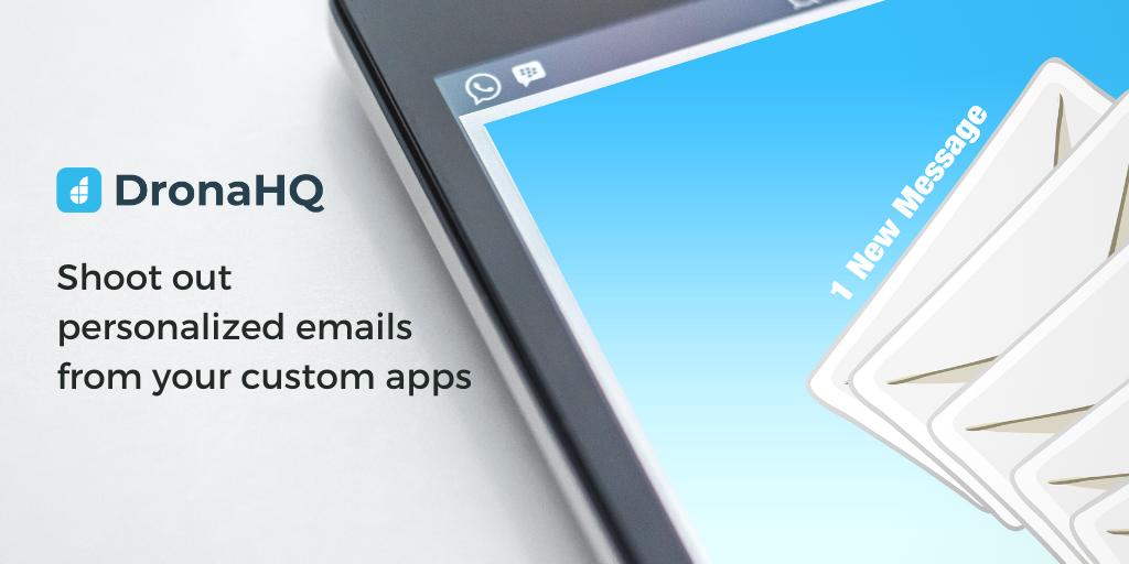 email task dronahq custom app