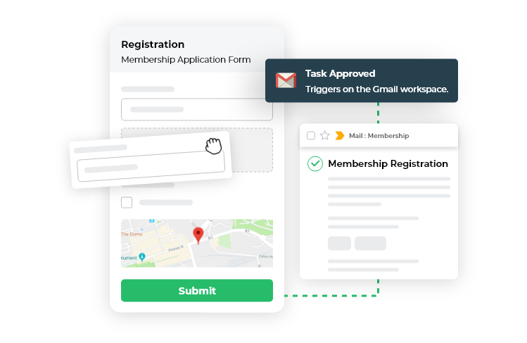create form and add workflow, send email