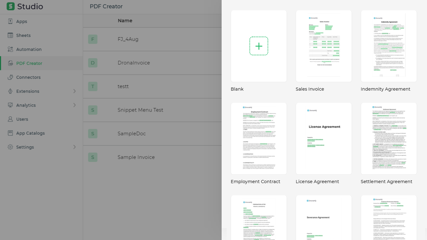 pdf creator templates