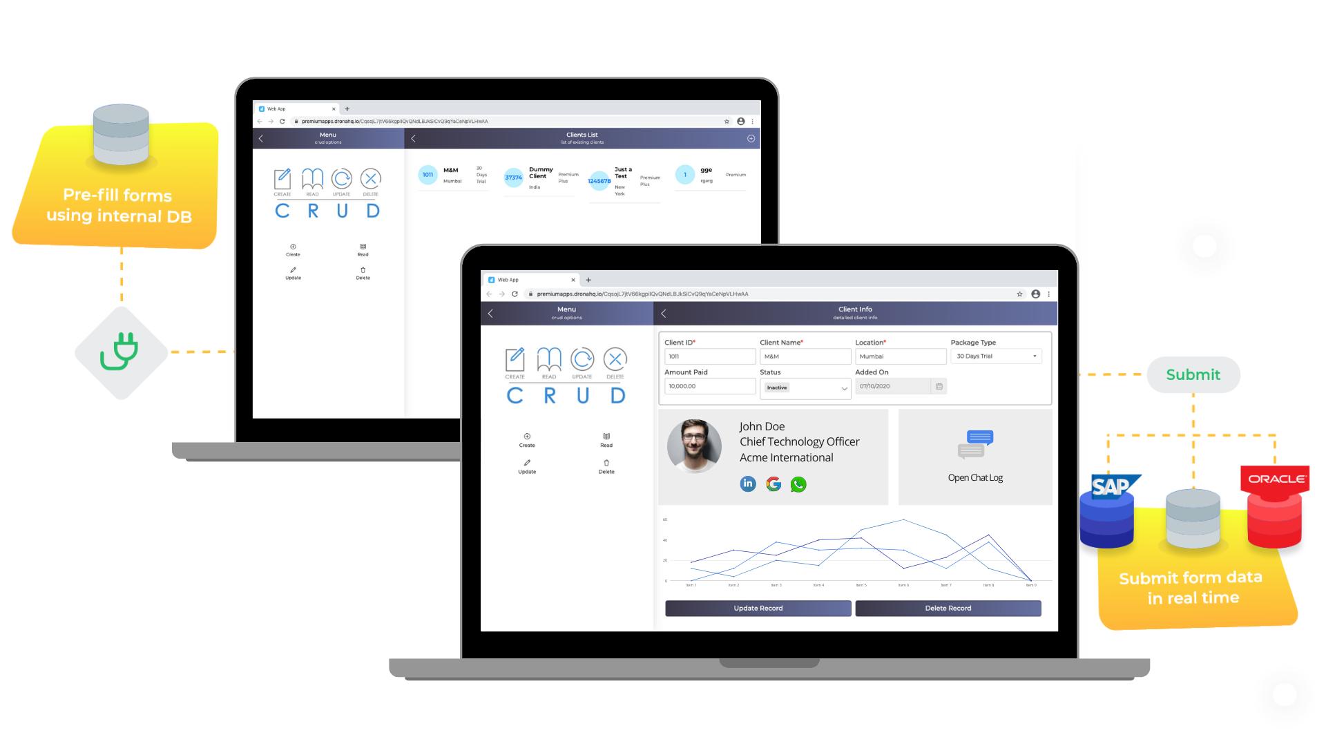 Build custom admin panels visually