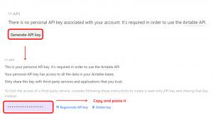 Generating API Key