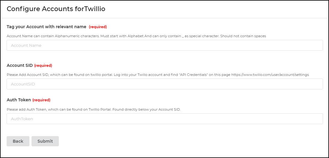 Configure Twilio account