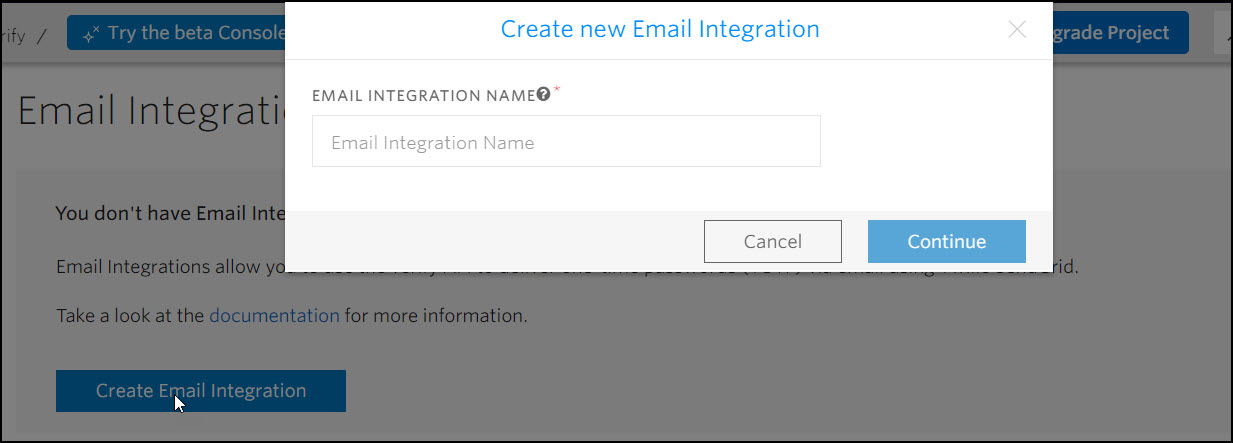 Configure email integration