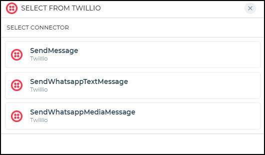 Twilio Connector Actions