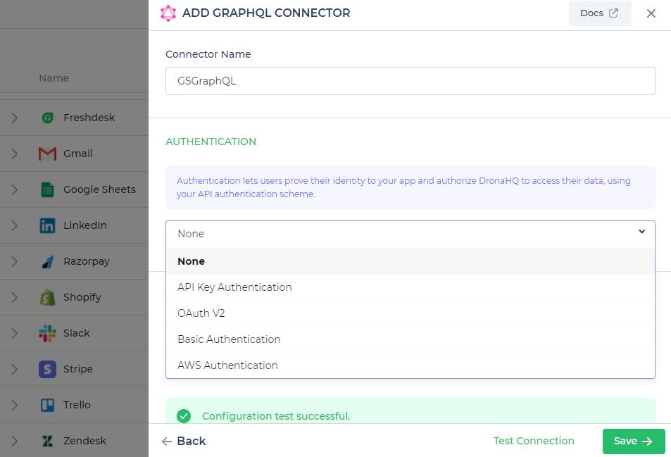 Configuring the GraphQL Connector